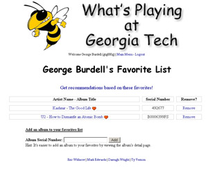 What's Playing at Georgia Tech